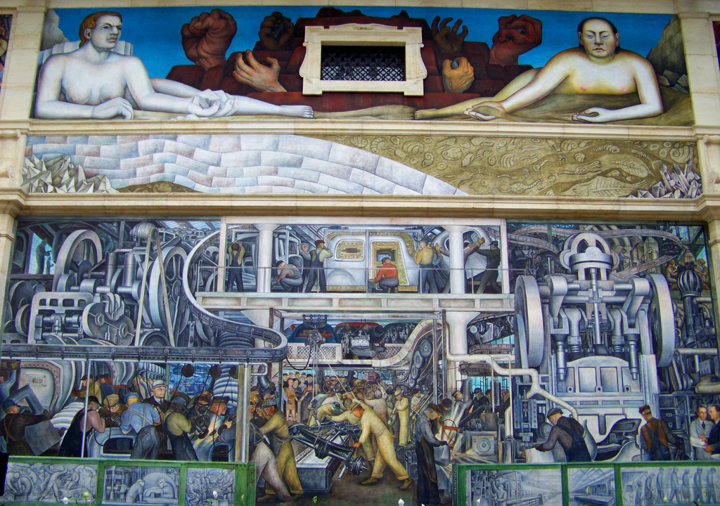 I love detroit mi 20 paintings at the detroit institute for Detroit industry mural
