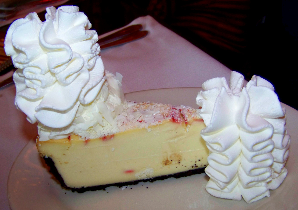 The Cheesecake Factory 8 1 White Chocolate Raspberry Truffle Cheesecake