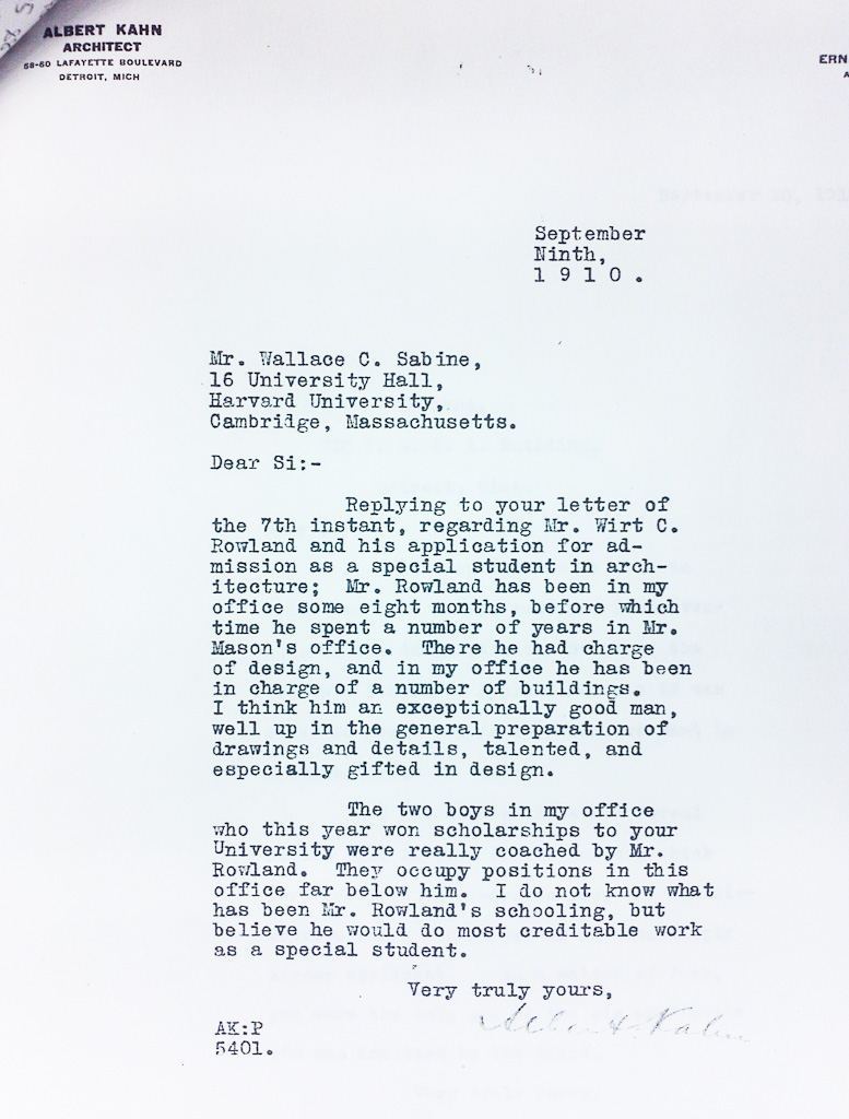 2-albert-kahns-harvard-grad-school-letter-of-recommendation-for-wirt-rowland-1910-hsc