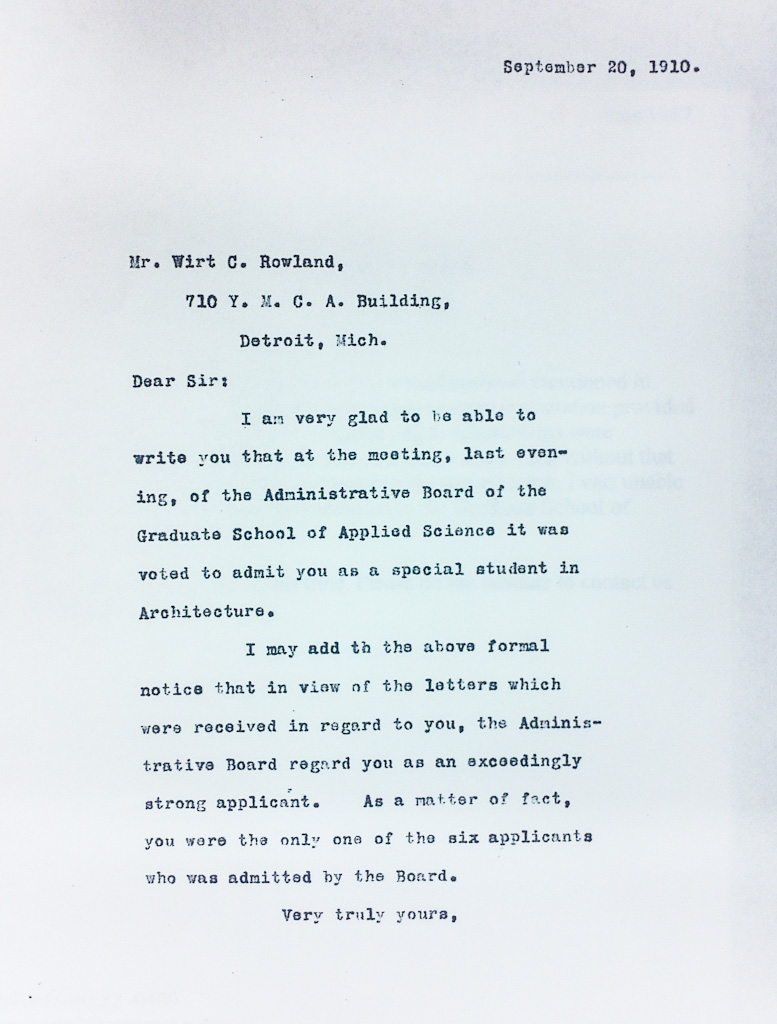 4-wirt-rowlands-harvard-graduate-school-of-architecture-acceptance-letter-1910-hsc