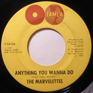 The Marvelettes - 'Anything You Wanna Do' label 525x525