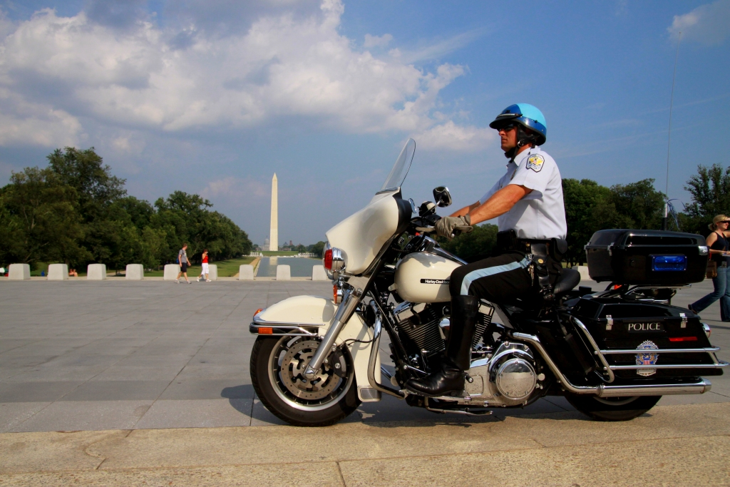 Capitol Police on the Washington Mall