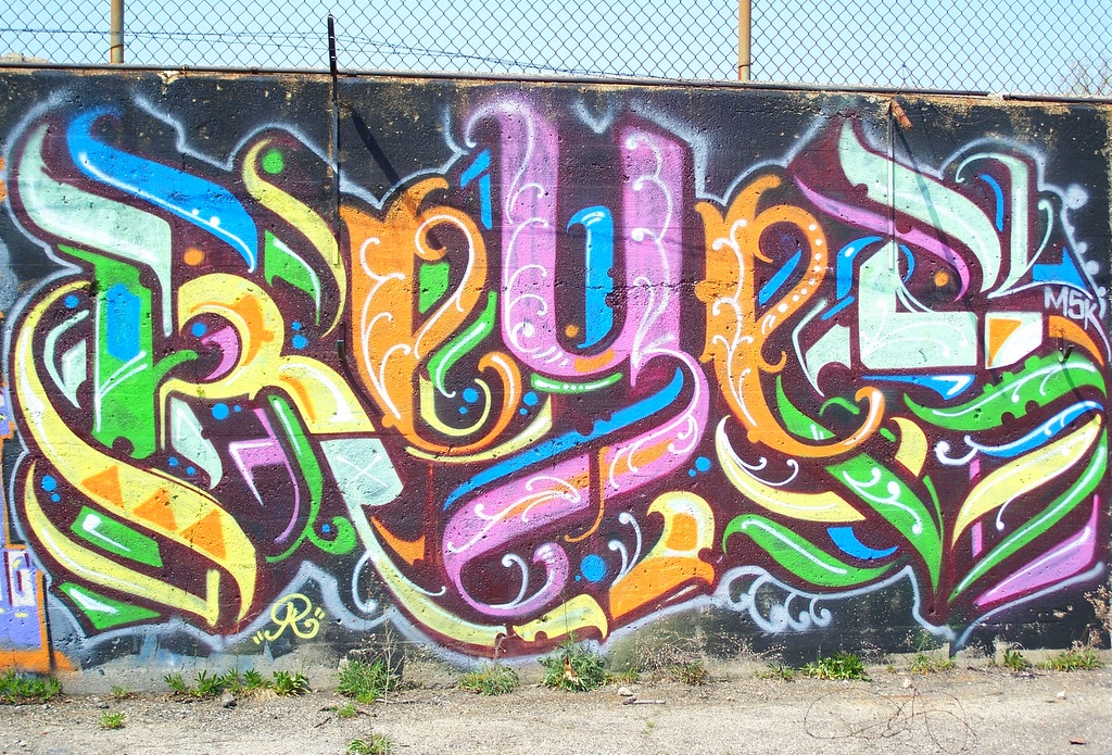 Detroit Graffiti near Oakland and Holbrook 1