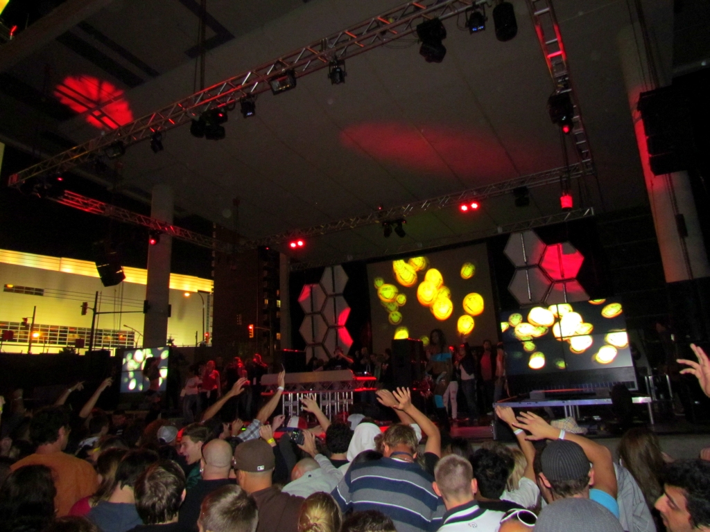 Richie Hawtin and Benny Benassi at Festival Plaza, Windsor, Ontario, 9-6-2011