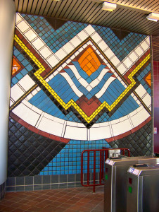 Pewabic Pottery 20 People Mover Times Square Station