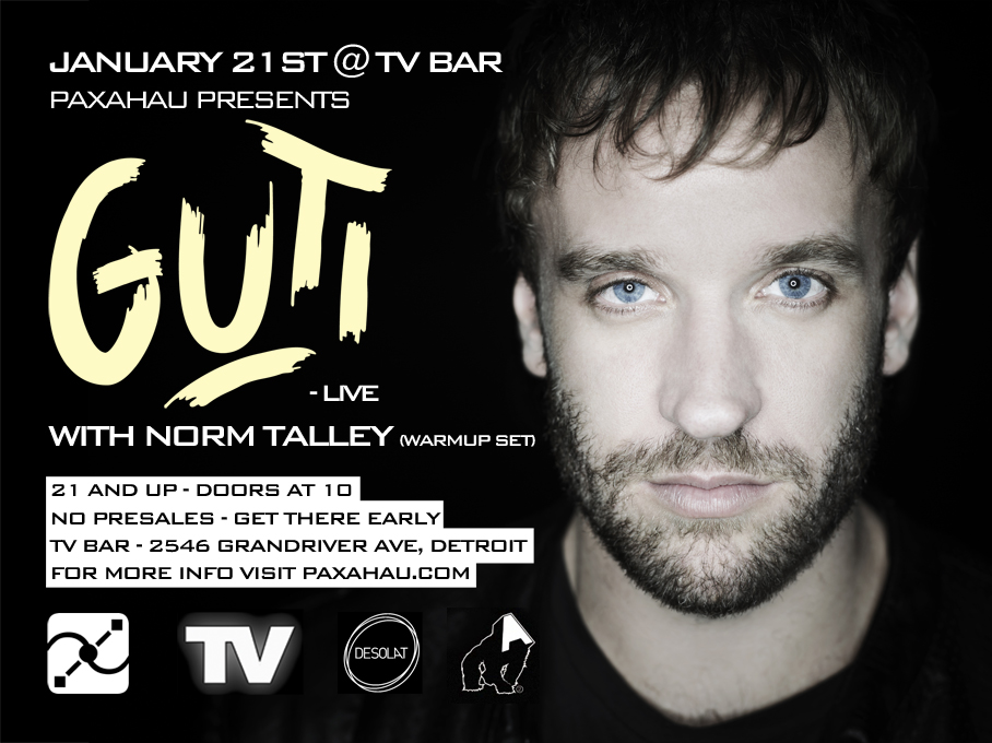 Guti and Norm Talley at TV Bar, Detroit, Michigan, 1-21-2012