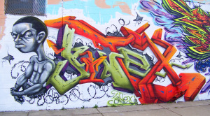 Detroit Graffiti at Grand River Avenue and Vermont Street 3 0