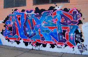 Detroit Graffiti at Grand River Avenue and Vermont Street 4