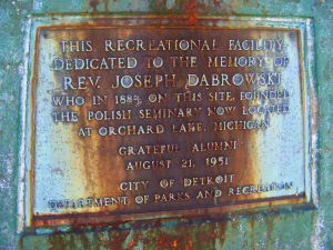 Dabrowski Playground Memorial Flagpole Plaque