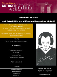 1. Carl Craig at Detroit Historical Museum - Event Flyer