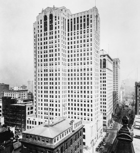 Penobscot Building around 1925. Library of Congress photo.