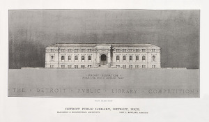 Wirt Rowland 1912 design for Detroit Public Library