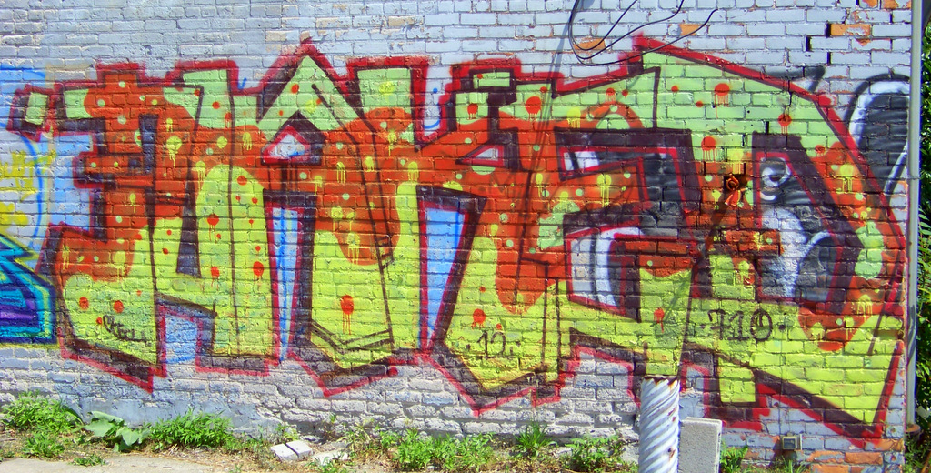 New Detroit Graffiti @ Grand River & Alexandrine St #4