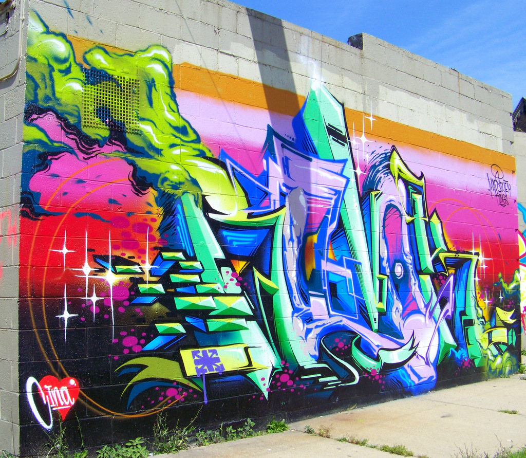 New Detroit Graffiti @ Grand River & Rosa Parks Blvd #12.1