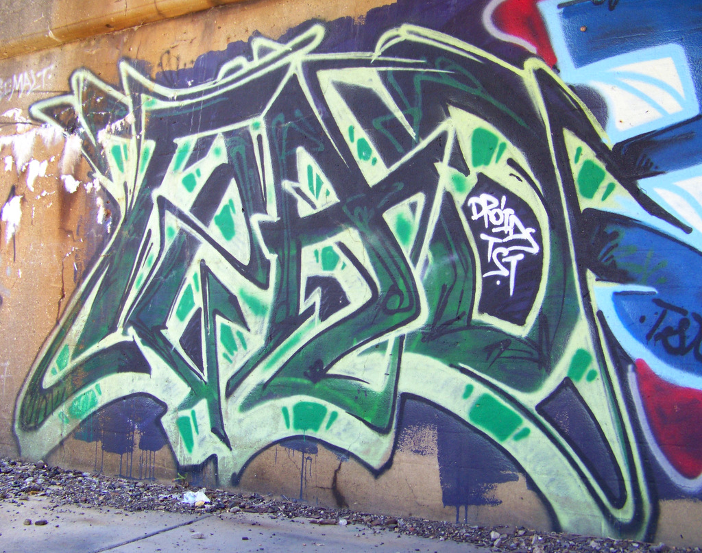 Vintage Detroit Graffiti Near MLK & West Grand Blvd #3