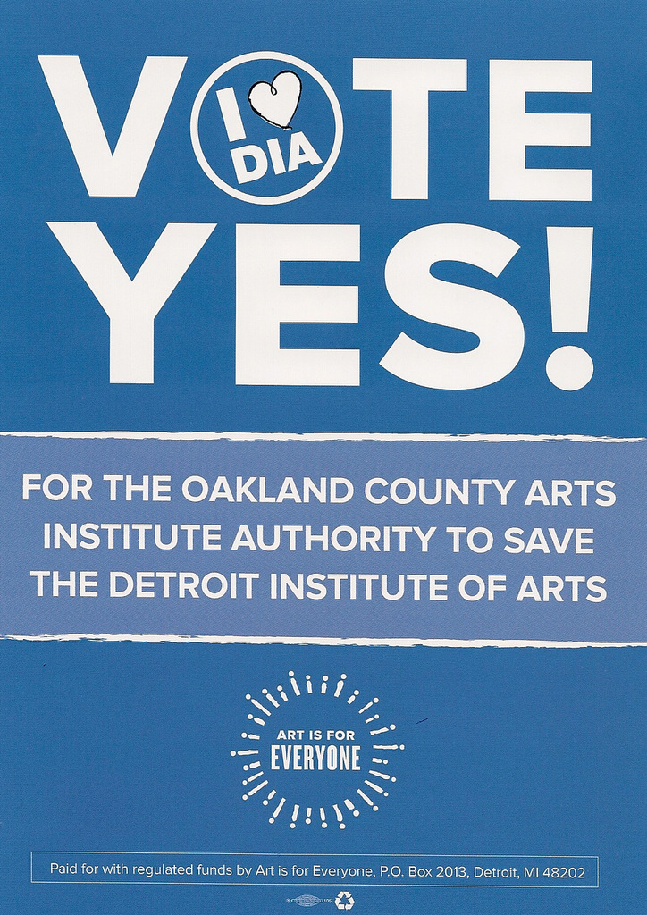 DIA Millage Art Is For Everyone Flyer III