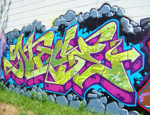 New Detroit Graffiti @ E Vernor & Beaufait #13