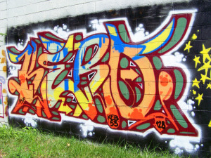 New Detroit Graffiti @ E Vernor & Beaufait #7