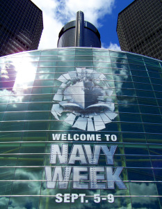 US Navy Week 2012 - The Detroit Renaissance Center and GM Building