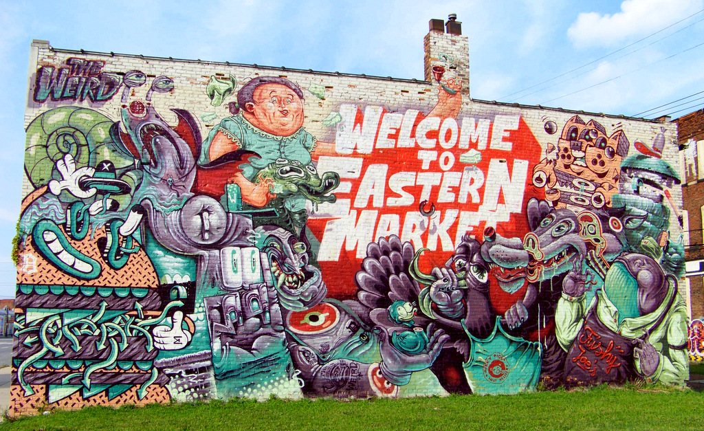 """The Weird"" Invade Eastern Market with Five New Murals!!"