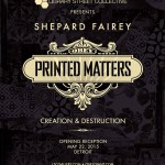 Shepard Fairey Printed Matters Flyer 5 22 2015