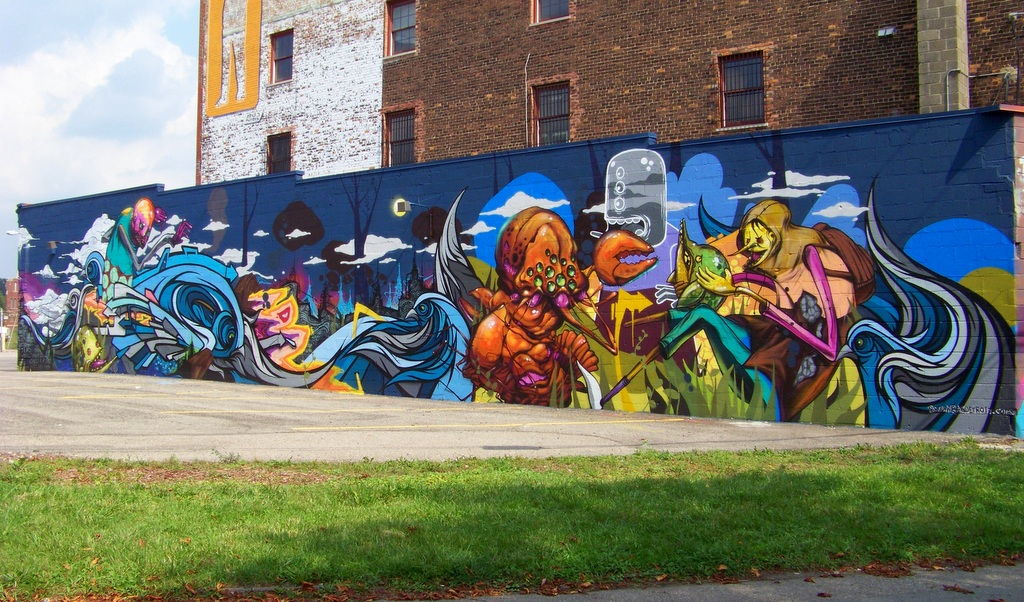 'Malt', 'Tead' & 'Monster Steve' Paint in the Grand River Creative Corridor – Summer 2015